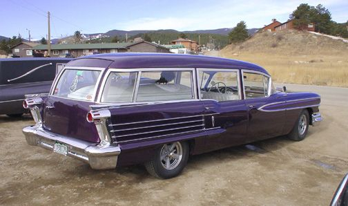 1958 Oldsmobile hearse/ambulance, at the Frozen Dead Guy ...