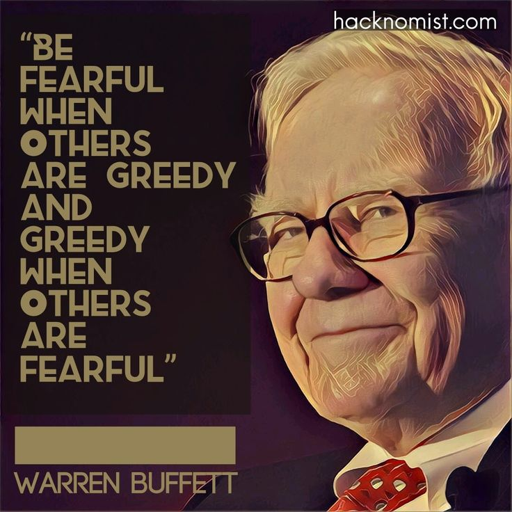 """""""Be Fearful When Others Are Greedy and Greedy When Others Are Fearful"""""""