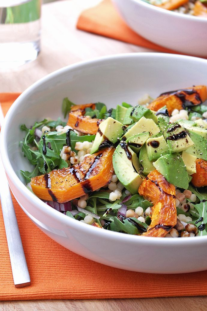 Butternut squash, rocket and avocado salad with balsamic glaze ; Laura McKittrick, The Greenwich Girl: a luxury lifestyle brand and digital magazine www.thegreenwichgirl.com
