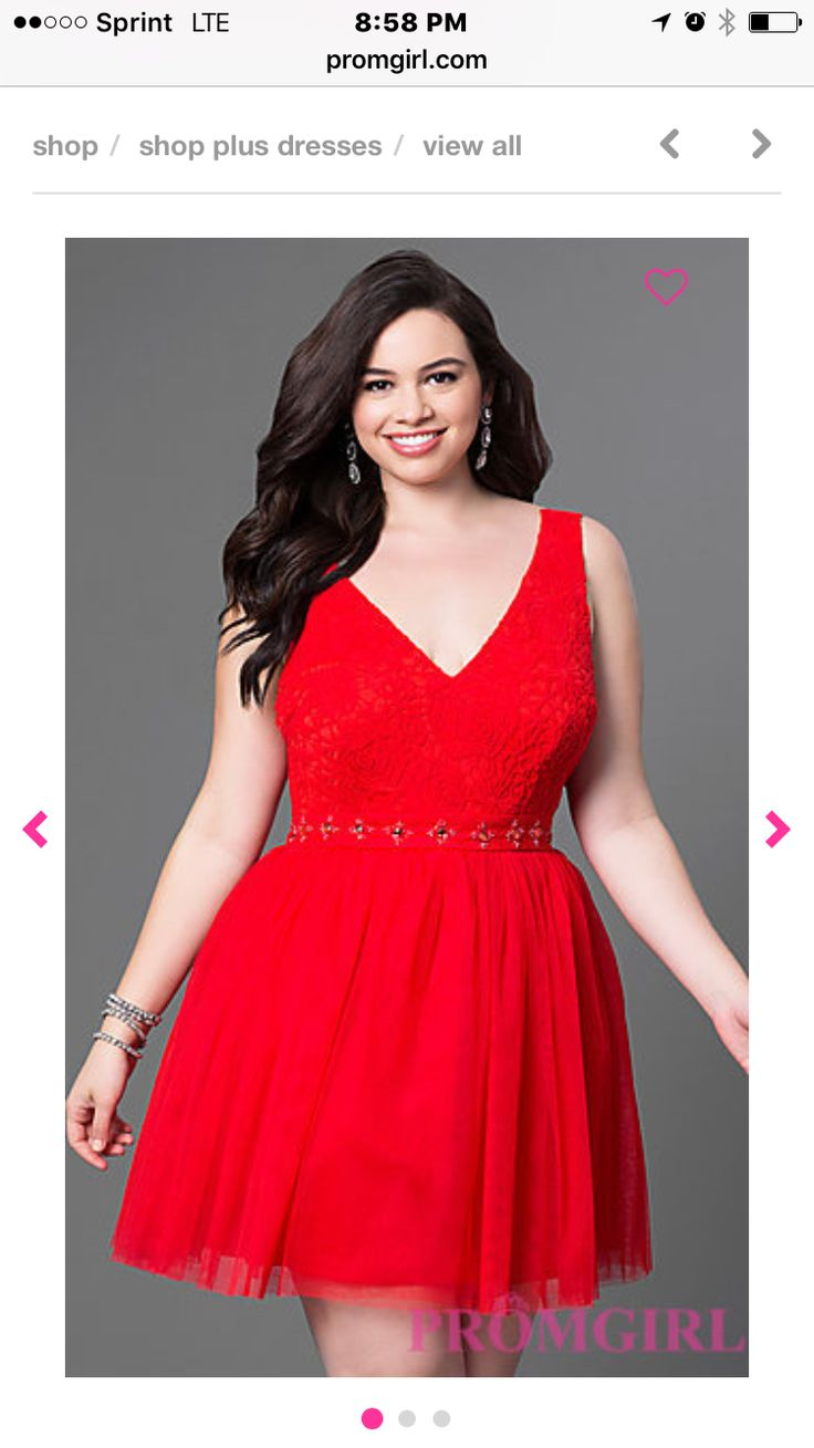 Plus size coral chiffon high low dress with lace bodice
