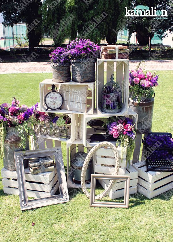www.kamalion.com.mx - Decoración / Busca tu Mesa / Morado / Purple / Vintage / Rustic Decor / Wedding / Bautizo / Placing Cards.