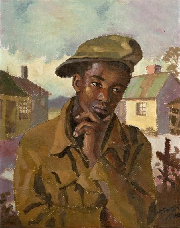 Portrait of a young man, 1950 - George Pemba -