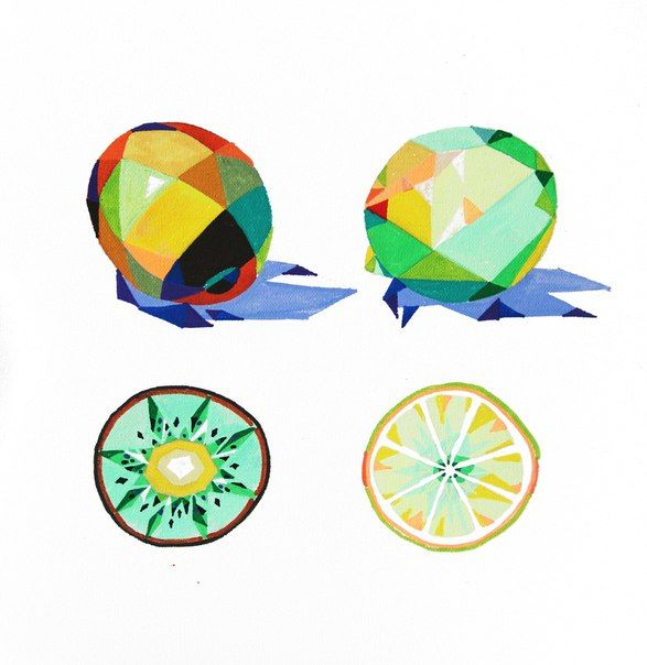 Polygonal fruit,   ilustración