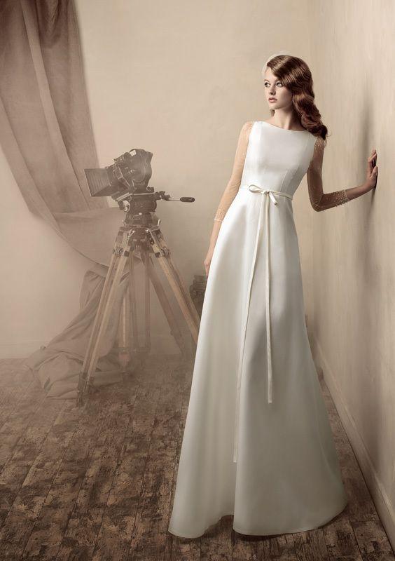 Элегантное свадебное платье.