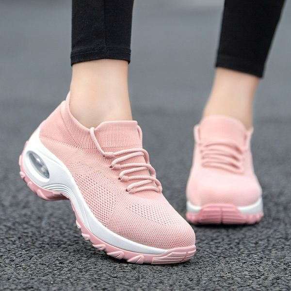 Womens Ladies Knit Mesh Trainers Comfy Running Breathable Sneakers Sock Shoes