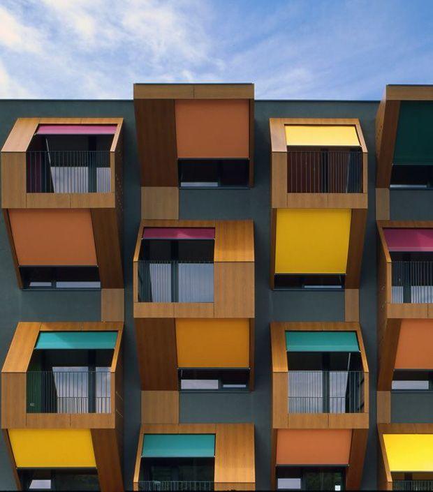 +10 colorful facades #decor #architecture #facade