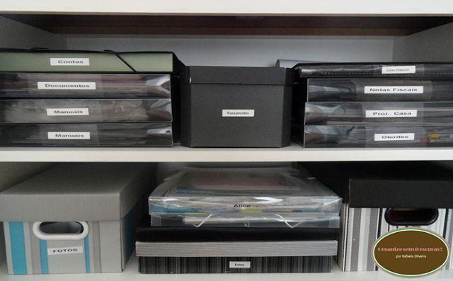 Organize sem Frescuras!: Dicas lá de casa -papelada organizada