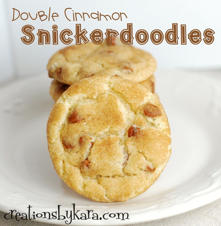 Recipe for snickerdoodles cookies with cinnamon chips