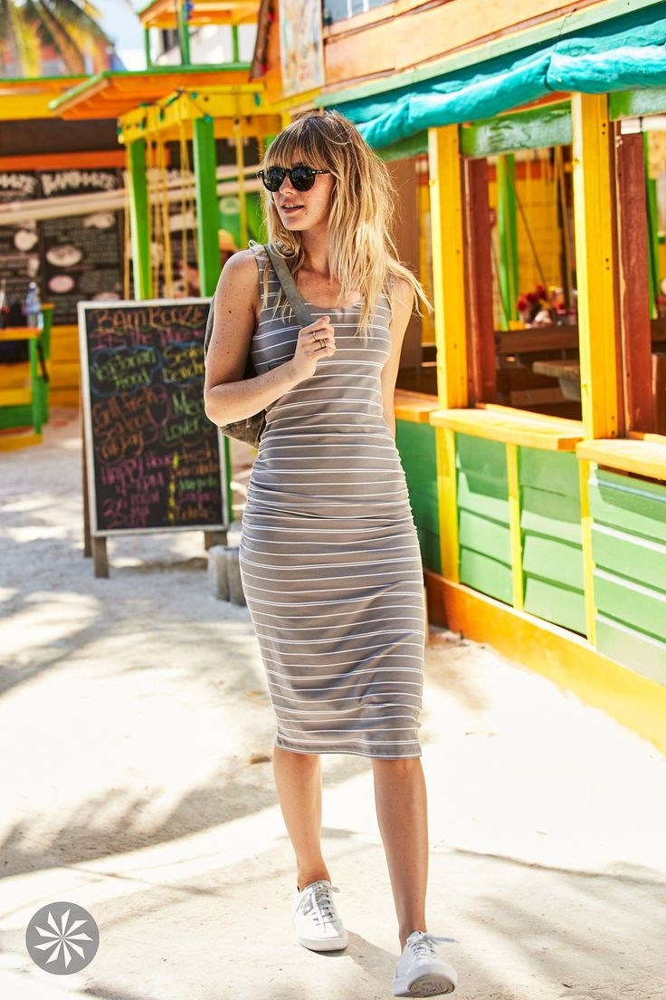 Shop this casual mid-length, go-anywhere tank dress with added coverage perfect for adventure travel