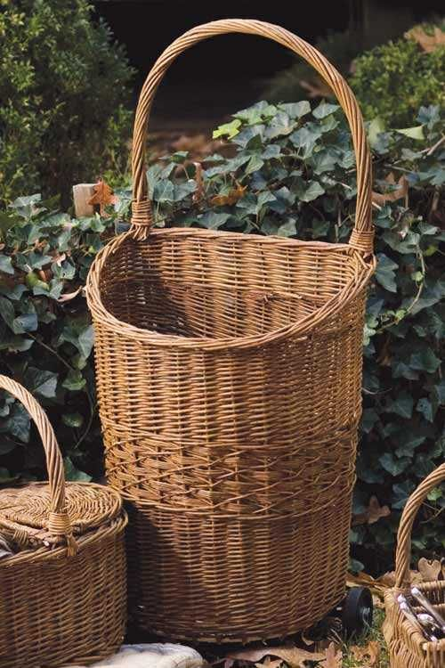 For Walks To The Grocer Wicker Rolling Cart Grocery Ping Cottage Farmhouse Interiors Decor Pinterest Basket Market Baskets And
