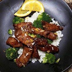 Crispy Orange Beef - Allrecipes.com 2 tsp ginger Add 2T OJ Add 2T vinegar  Add 1tsp chili sauce