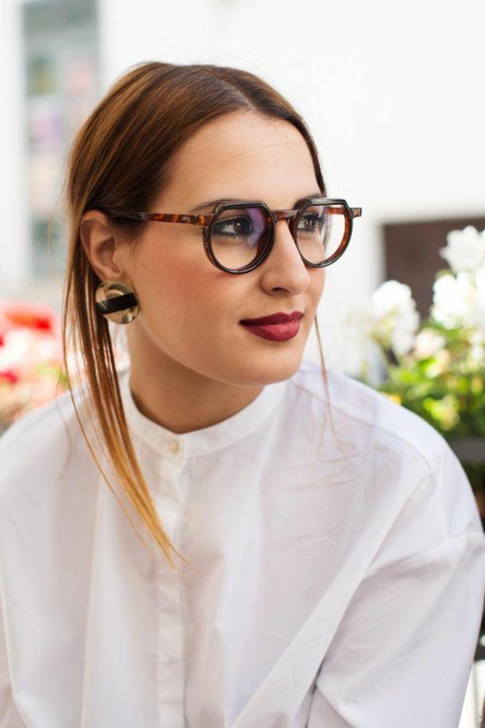 monture lunette de vue femme aux formes légèrement excentriques