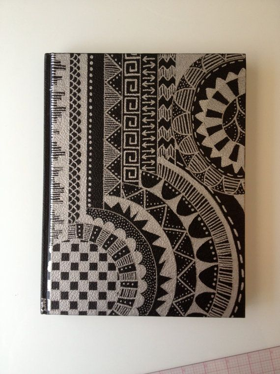 Matched Book Cover Drawing : Sketchbook with original sharpie design cover by