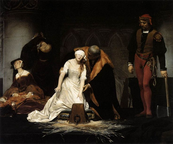 """La ejecución de Lady Jane Grey"" de Paul Delaroche."