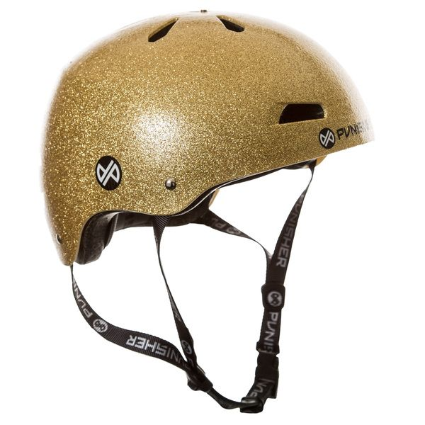Punisher Skateboards Pro Youth 13-vent Bright Gold Flake Dual Safety Certified Youth/ Teen BMX Bike and Skateboard Helmet | Overstock.com Shopping - The Best Deals on Protective Gear