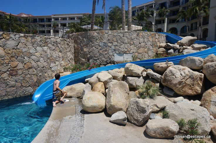 water slide at Dreams Los Cabos Suites Gold Resort and Spa