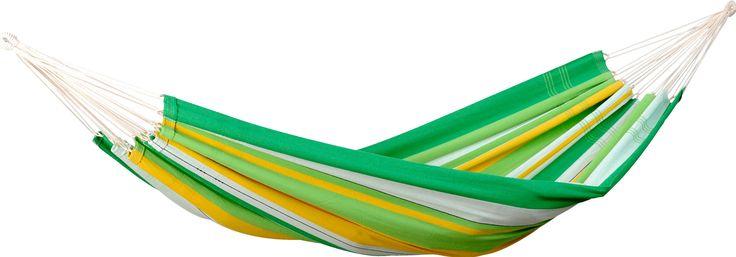 Amazonas Lambada 2-persoons hangmat  Amazonas Lambada Met deze Lambada hangmat van Amazonas waan je je snel in Braziliaanse sferen. De vrolijk gekleurde strepen geven de hangmat een zomerse uitstraling mee waar jij met plezier in gaat liggen relaxen. De Lambada hangmat heeft een maximum draagvermogen van 150 kilogram en kan door twee personen tegelijkertijd gebruikt worden. Dit model heeft een afmeting van 210140 centimeter en de hangmat weegt slechts 14 kilogram. Verschillende modellen De…