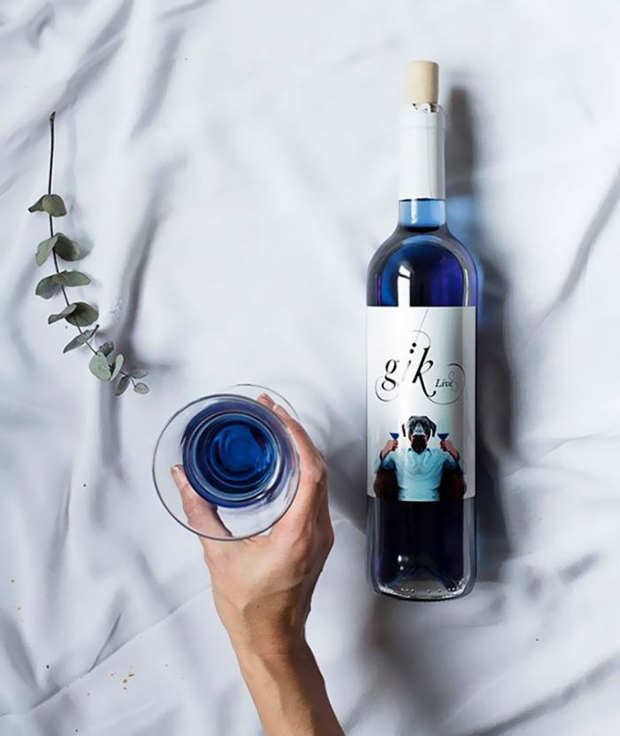 Everybody knows that red wine is for red meat, white wine is for white meat, and rosé is for, well, whatever rosé is for. But what about blue wine? What does that go with? We have no idea. It's not something we've ever had to think about before. Until now that is.