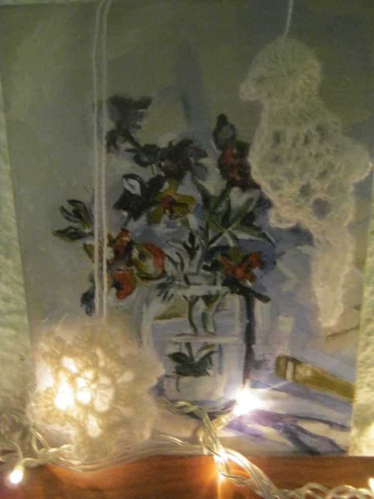 christmas bird and a snowflake (crochet)