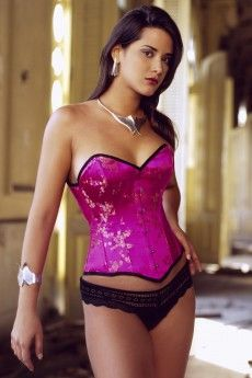 Nothing beats the beautiful Leoty corset from Vollers in cerise chinese. Perfect to take on holiday with you for a glam summers evening! Available at: http://www.vollers-corsets.com/leoty.html