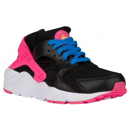 Nike Huarache Black And Blue And Pink