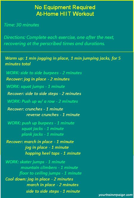 No Equipment Required At-Home HIIT Workout @Paige Kumpf