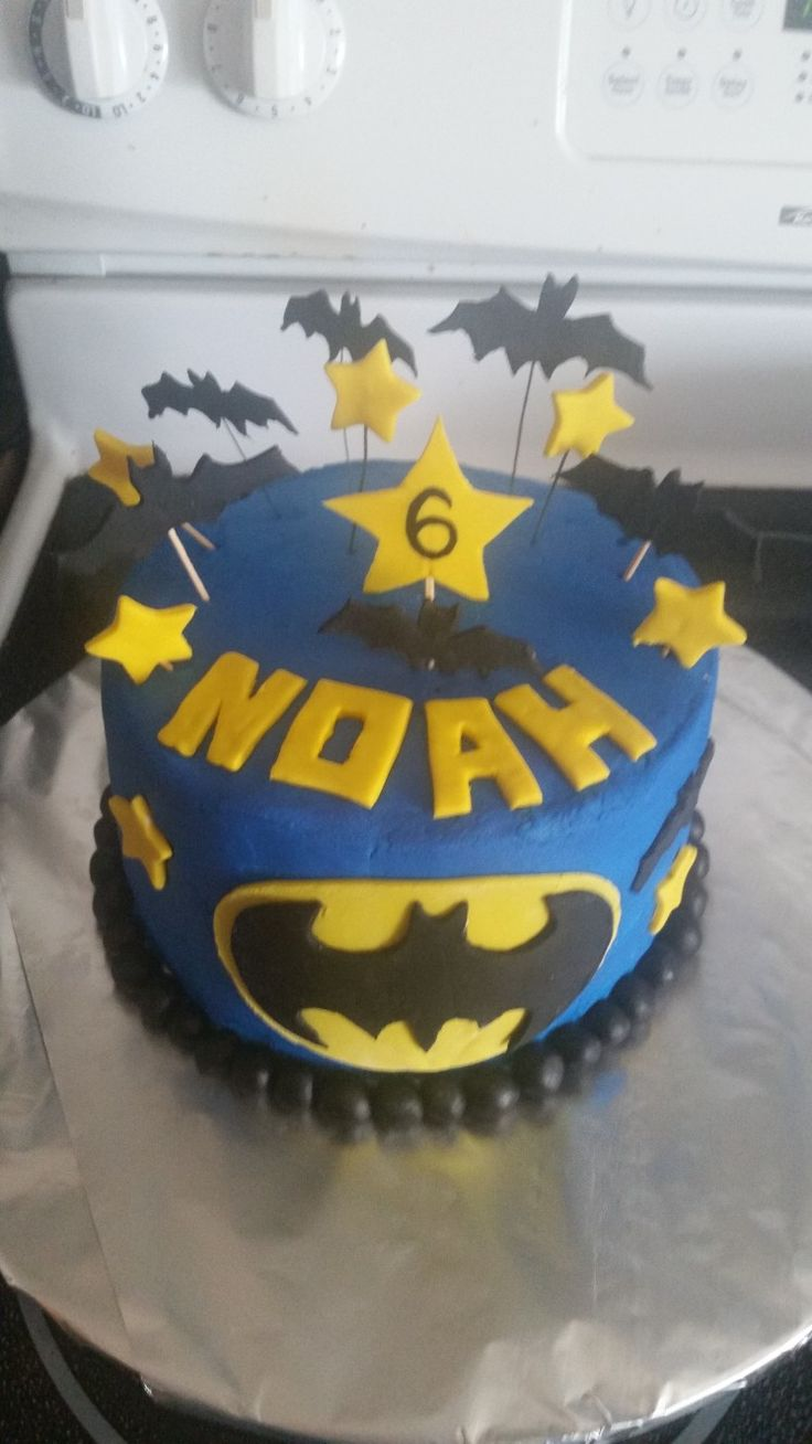 Batman cake for Noah