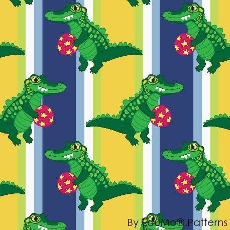 Crocodile Stripes (blue)