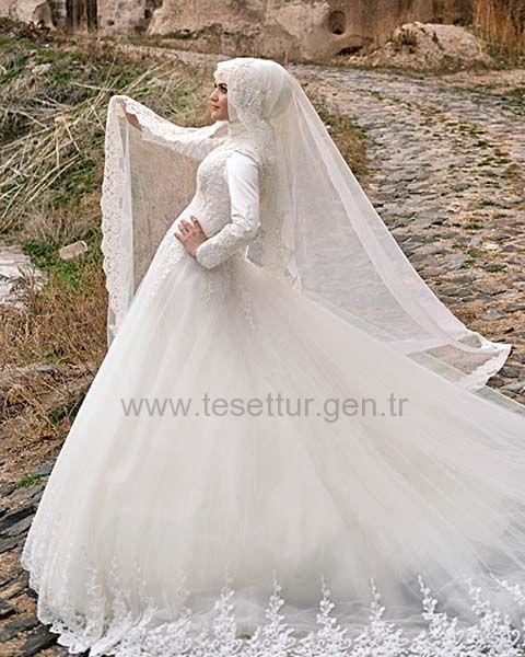 Hanımeli Moda Tesettür Gelinlik Modelleri Model:36