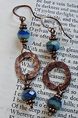 Copper and Czech Glass--Look at jewelry--supplies for copper washers from hardware store