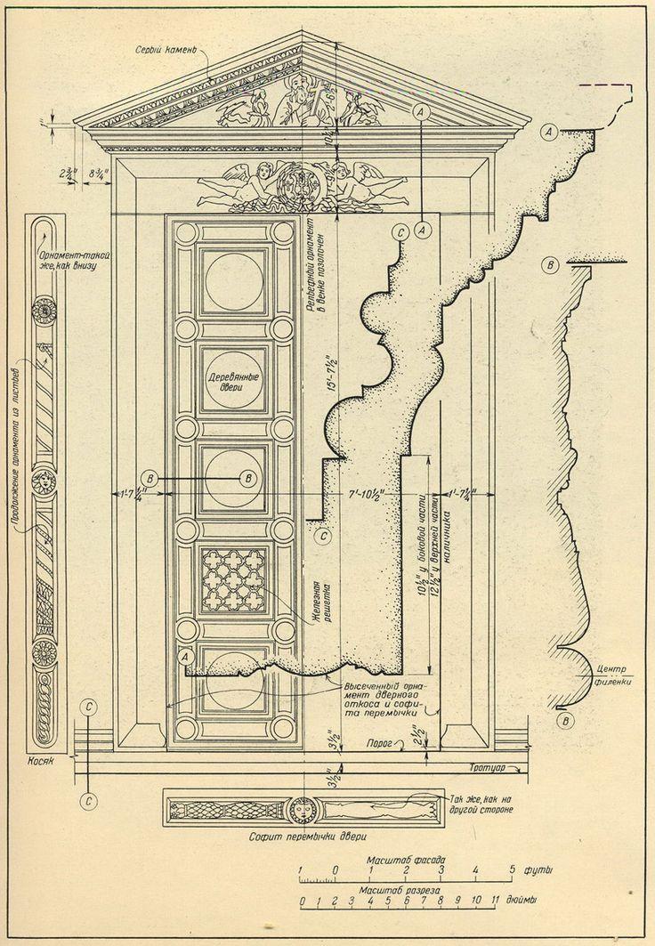 Флоренция. Дверной проем в часовню Пацци, церковь Санта Кроче. Двери и порталы в итальянской архитектуре