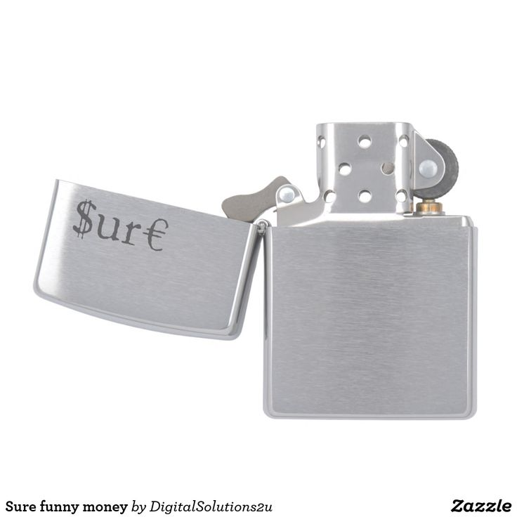 Sure funny money zippo lighter