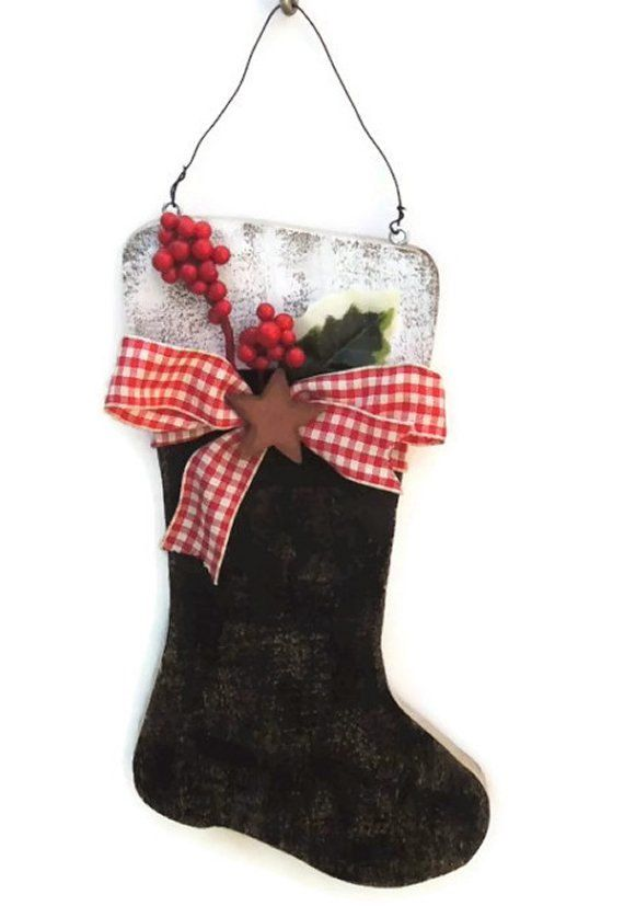 Rustic Santa Boot from Reclaimed Wood by WhatsInGrampasShack, #dteam  New for Chhristmas