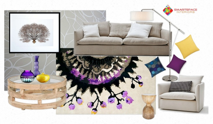 Living room design - feature Designer Rugs