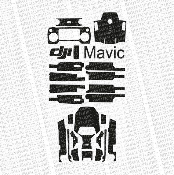 DJI Mavic Pro - Skin Cut Template - Templates for cut or machining