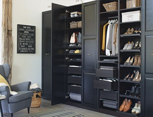1000 ideas about armoire penderie on pinterest wardrobe closet armoires a - Agencement dressing ikea ...