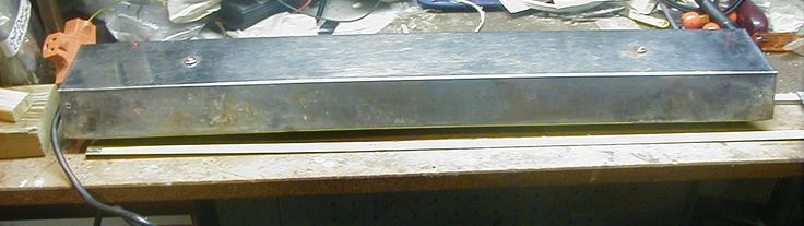 3 VINTAGE STANLESS STEEL AQUARIUM HOODS WITH LIGHT FOR 29 GALLON TANK USED