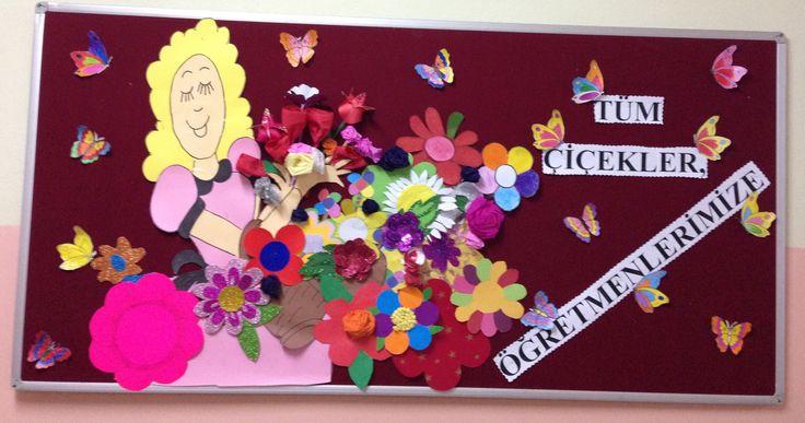 Bütün çiçekler öğretmenlerimize
