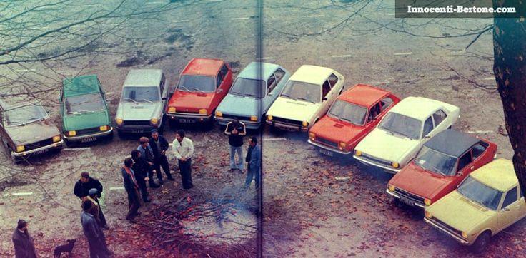 Laquelle choisir : PEUGEOT 104 - NNOCENTI 120 - AUTOBIANCHI A 112 - RENAULT 5 TL - FORD FIESTA - VW POLO L - FIAT 127 - OPEL KADETT L. TOYOTA 1000. DATSUN CHERRY