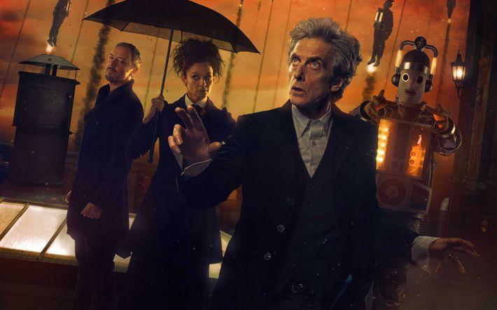 Scarica sfondi Doctor Who, Michelle Gomez, John Simm, Peter Capaldi, Cybermen, Dodicesimo Dottore