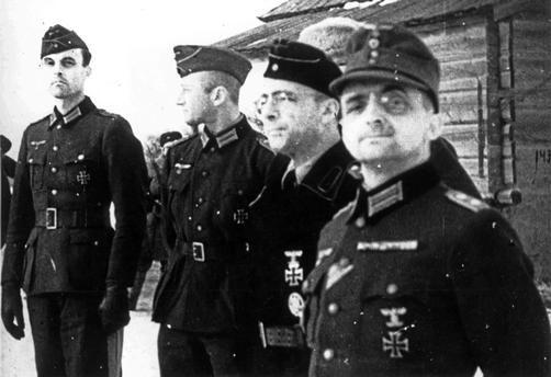 Surrender of Stalingrad, 1943. Group of von paulus' officers taken prisoners by the soviets at stalingrad, world war ll. akg-images