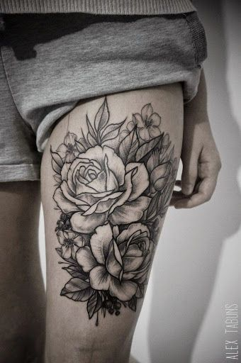 lace bow floral tattoo - Google Search