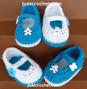 Free baby crochet pattern for mary jane shoes