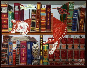 Cat's Library by Yelena Wilson
