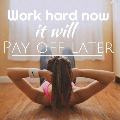 Lavorare sodo ora...ripagherà più avanti!!! Inizia da ora ad allenare il tuo corpo ad uno stile di vita più sano...segui il mio programma. BASTA SCUSE...E' L'ORA DI AGIRE!!!!