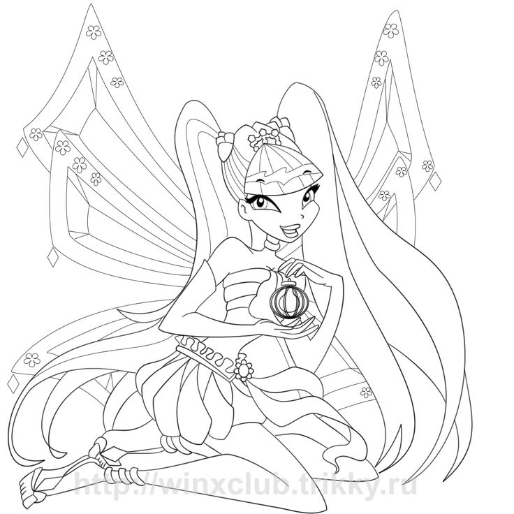 Cartoons Winx Club Coloring Pages Printable