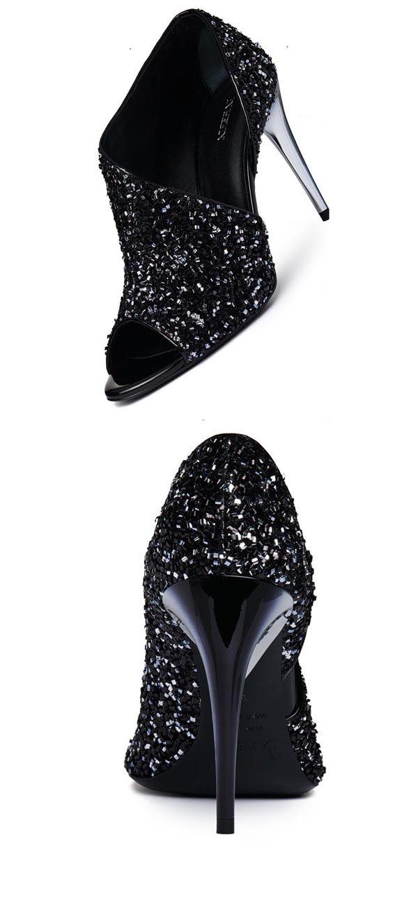 Material:Glitter|Heel Height:12cm|Embellishment:Sequin
