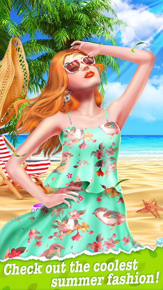 Summer dress hairstyles games