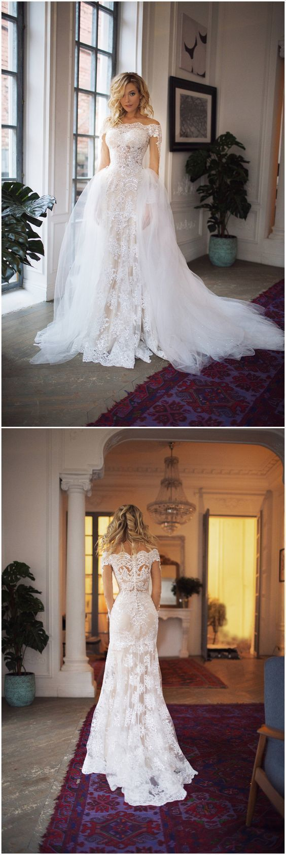 Charming Glamorous Custom Made Mermaid Wedding Dress lace wedding gowns sexy wedding dresses