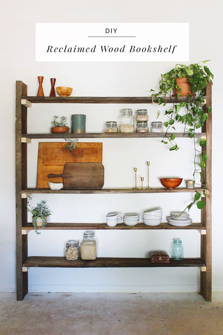 432 best images about dining room tutorials on pinterest for Reclaimed wood bookcase diy